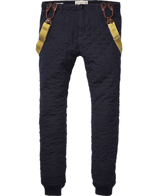 Quilted Padded Pants > Mens Clothing > Pants at Scotch & Soda