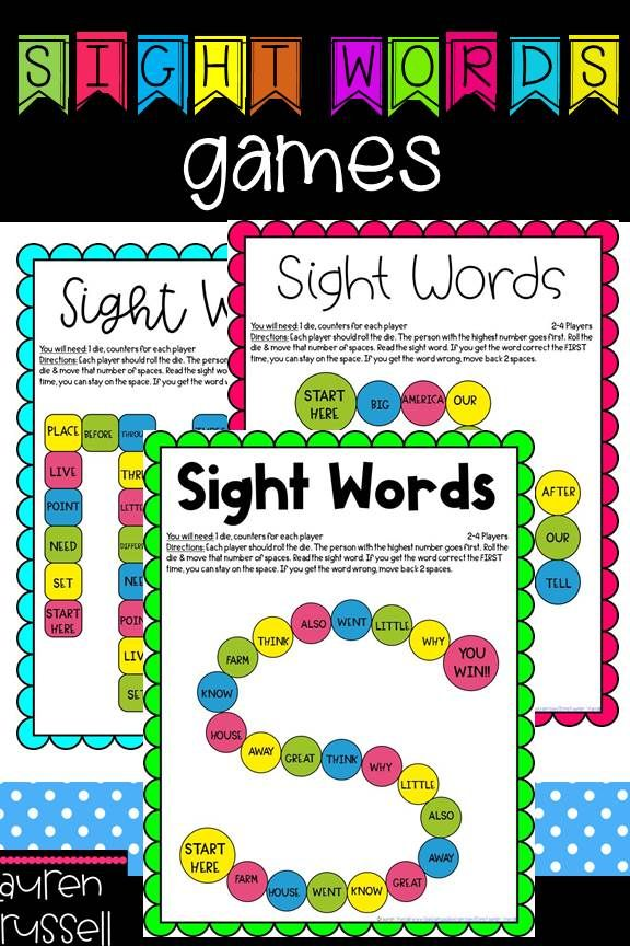 Sight Word Games {Fry's First 100}