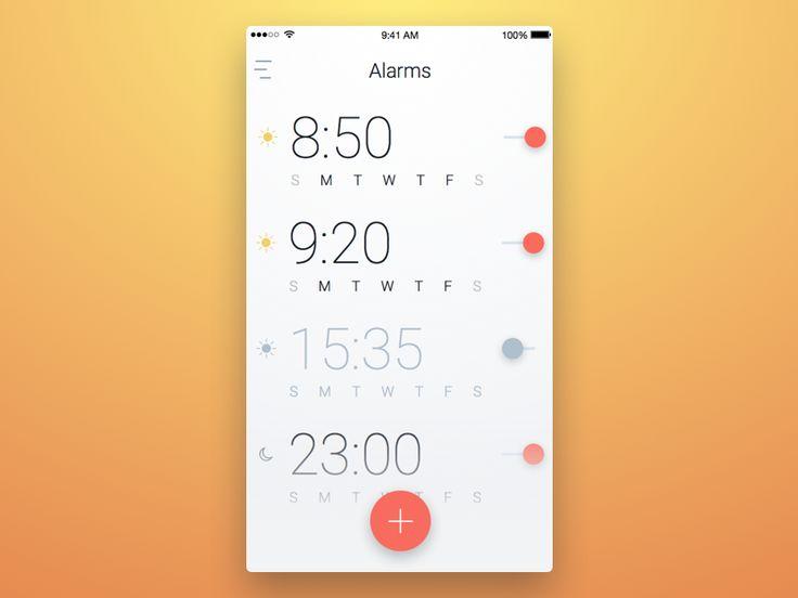 Reminder / Alarm — Design Inspiration