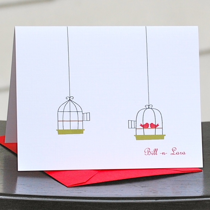 do you send thank notes for wedding gifts before the%0A cute lovebird card  Engagement CardsWedding Thank You
