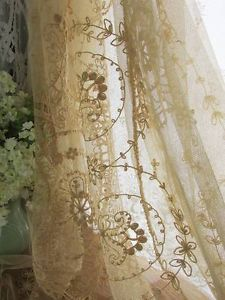 Lovely Antique Tambour Embroidered French Net Lace Coverlet Sweet Early Lacework | Vintageblessings