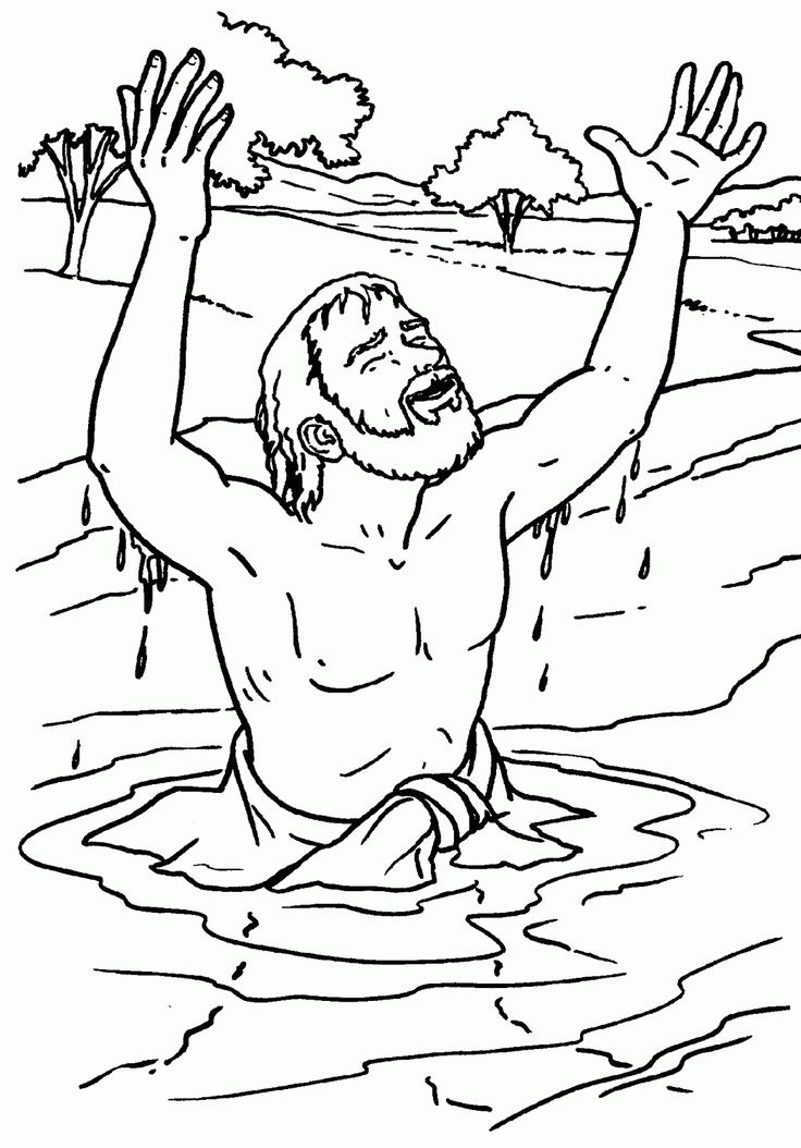 bible coloring pages naaman - photo#1