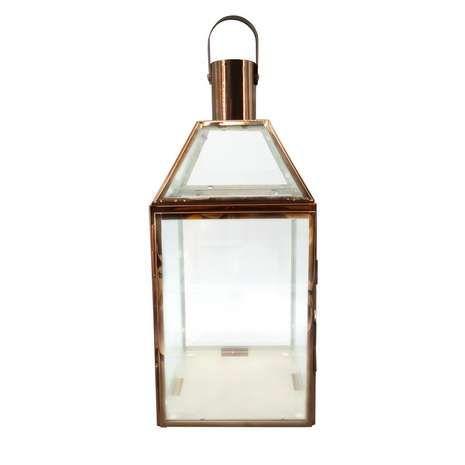 Glass and Copper Lantern | Dunelm