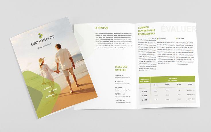 Brochure réalisée pour Bâtirente
