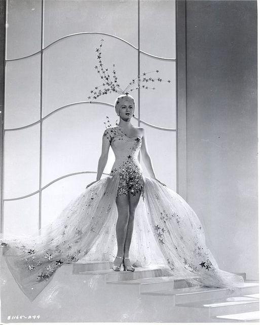 Winter Wonderland idea #1  Lana Turner - Ziegfeld Girl 1941, in a showgirl costume designed by Adrian.