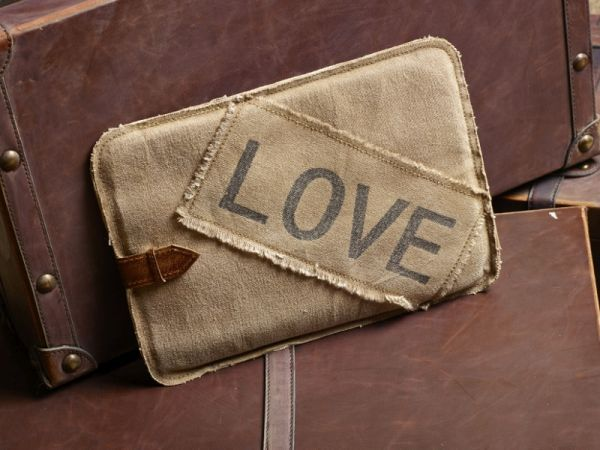 Love Struck Tech Canvas Case / #Vintage #Eco #Inspired #Canvas #Bag #Handbag #Purse #Upcycled #Recycled #Green #Earth #MonaB #Mona B