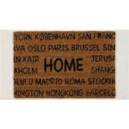 """Dørmatte """"HOME"""", natur, (40x60cm)"""
