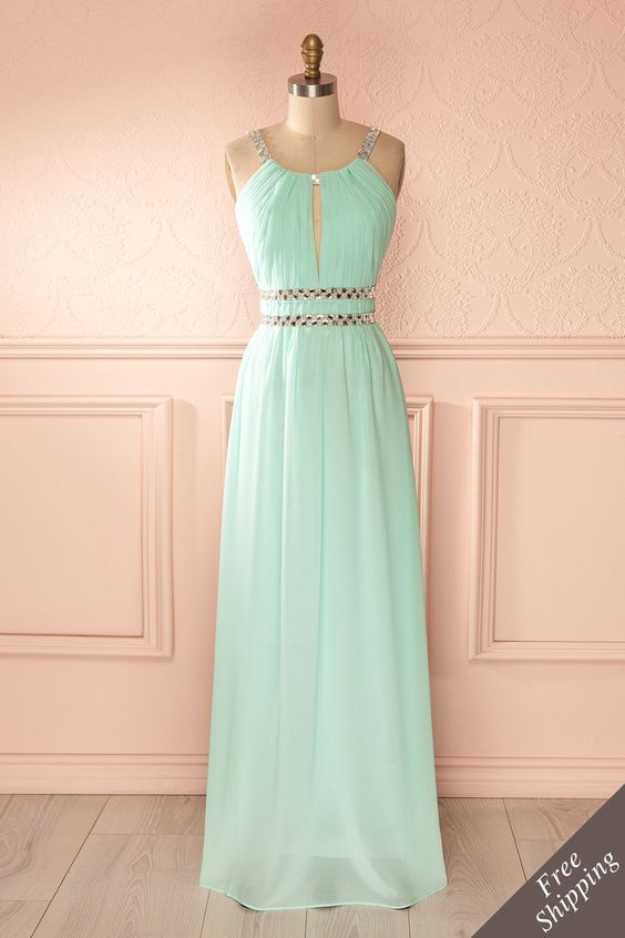 Charming Prom Dress,Chiffon Chiffon Prom Dress,Floor Length Prom