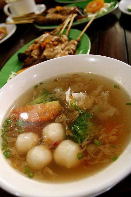 Seafood soup Indonesian style