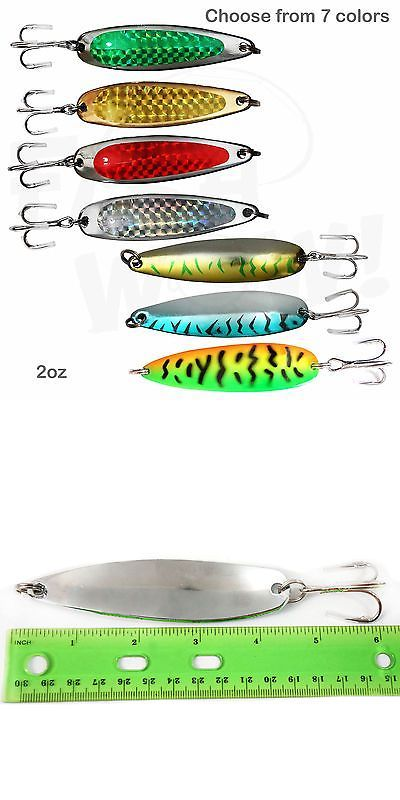Spoons 31692: 2Oz Fishing Spoons Treble Hook Flutter Casting Jigs Trolling Lures Bait Rigs New -> BUY IT NOW ONLY: $99.88 on eBay!