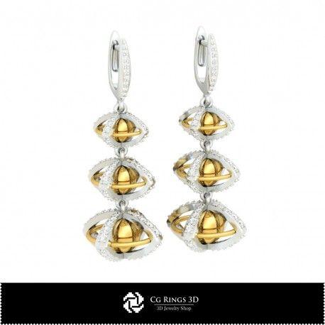 3D CAD Ball Earrings