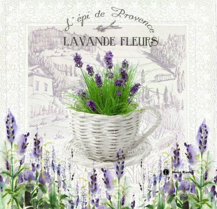 MI MALETA DE RECORTES: Láminas para Decoupage con Aroma de Lavanda