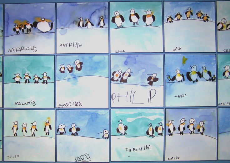 Pinguins. children- 5- with Britta Johanson.