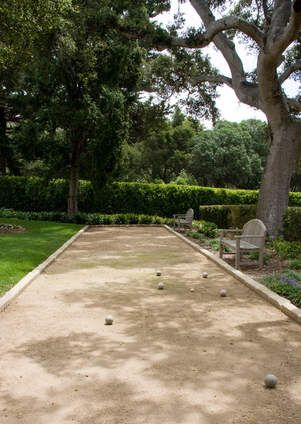 Bocce court – bocce ball - bocce under the oaks – outdoor games – games for the back yard - edging