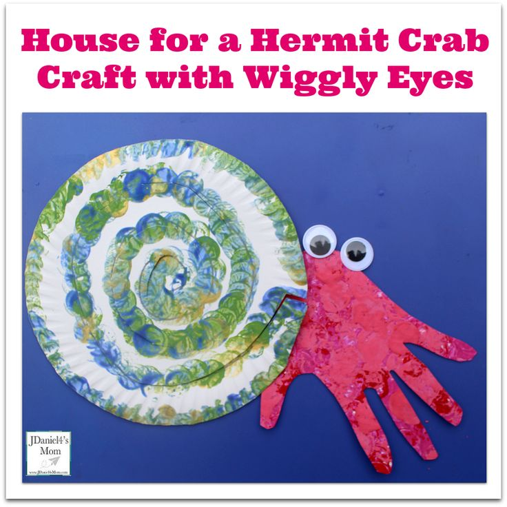 House for a Hermit Crab Craft with Wiggly Eyes