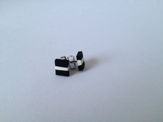 Black & White Allsorts Polymer Surgical Steel by FawknerStDesigns, $10.00