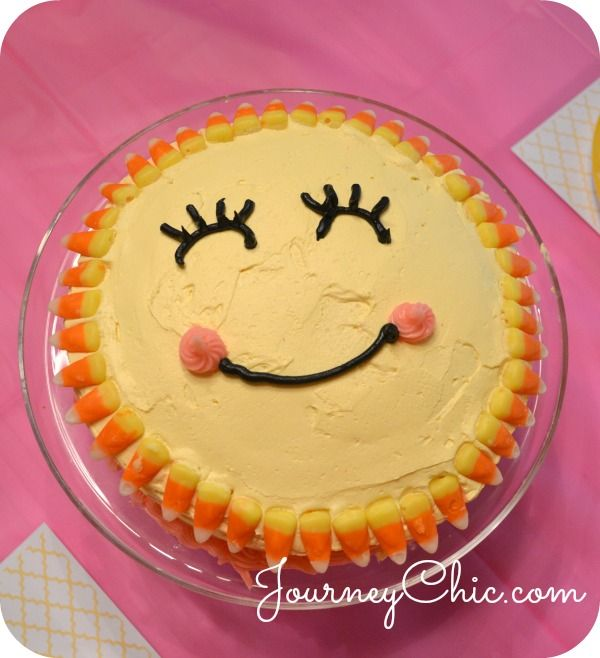 Simple homemade sunshine cake for a You Are My Sunshine Party