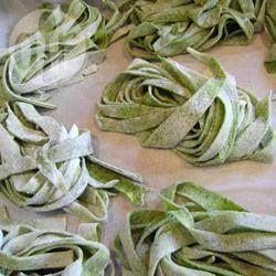 Verse groene pasta (van spinazie) @ allrecipes.nl