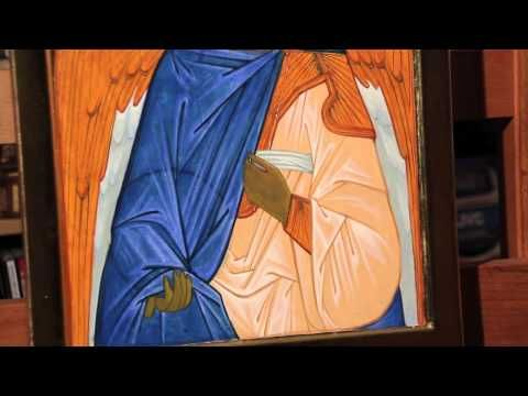 Dipingere l'icona di un Angelo: 7.2 - Tunica chiara lumeggiature - YouTube