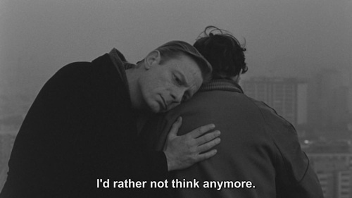"""I'd rather not think anymore"", Wim Wenders's Film ""  Wings of Desire ""-"" Der Himmel Über Berlin """