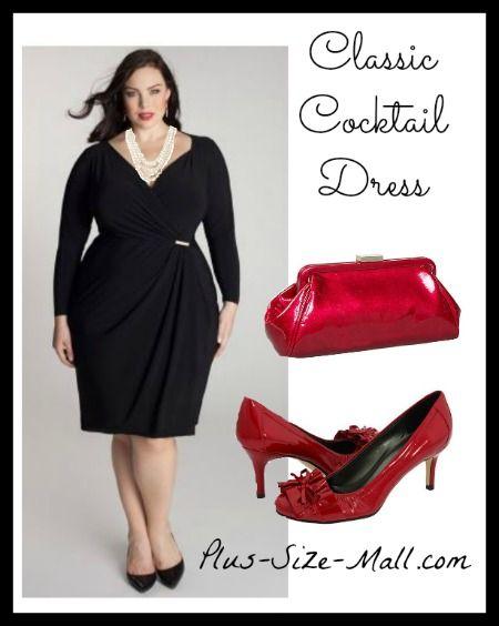 Classic Plus Size Cocktail Dress
