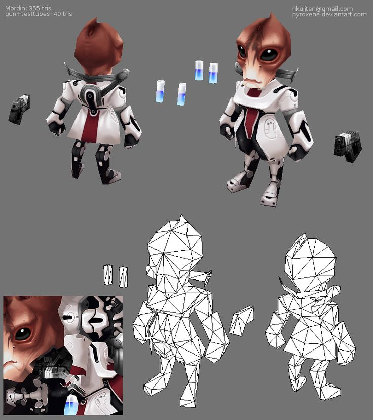 Lowpoly Mordin by ~Pyroxene on deviantART