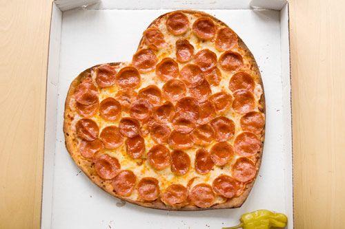 papa john's heart shaped pizza for Valentine's day