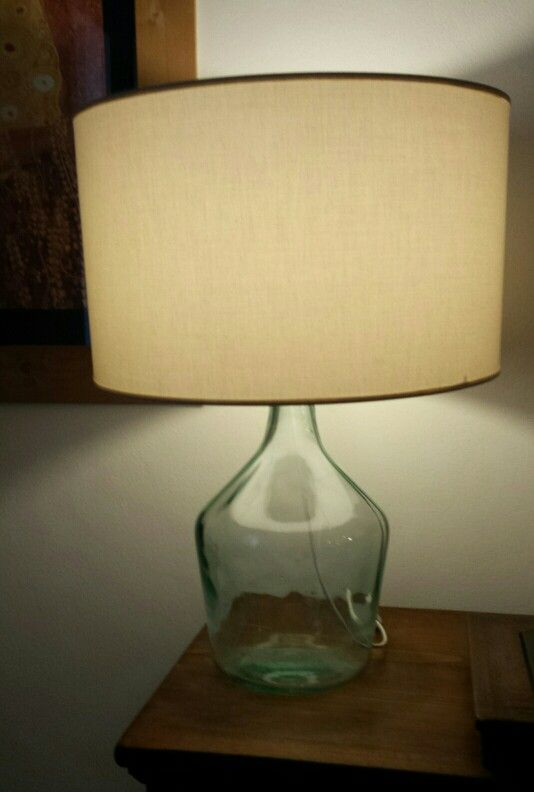 from demijohn to table lamp