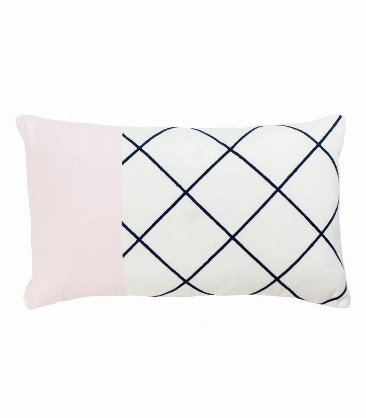 The Stables offers a beautiful collection of woven cushions all designed in Australia. The Rosa Cushion is rectangular and is made from an embroidered cotton. Colour: blush, marshmellow and navy. Dimensions: 30cm x 50cm Includes feather insert. $84.95 AUD www.thestablesco....