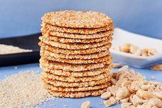 Crunchy sesame peanut cookies