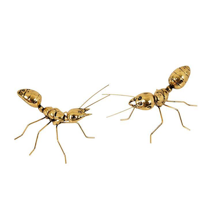 Ant Decoration Set 2-Pack Large, Brass, Broste Copenhagen #brostecopenhagen #ants #royaldesign #design #interior #decoration #interiordecoration #lifestyle #spring #news