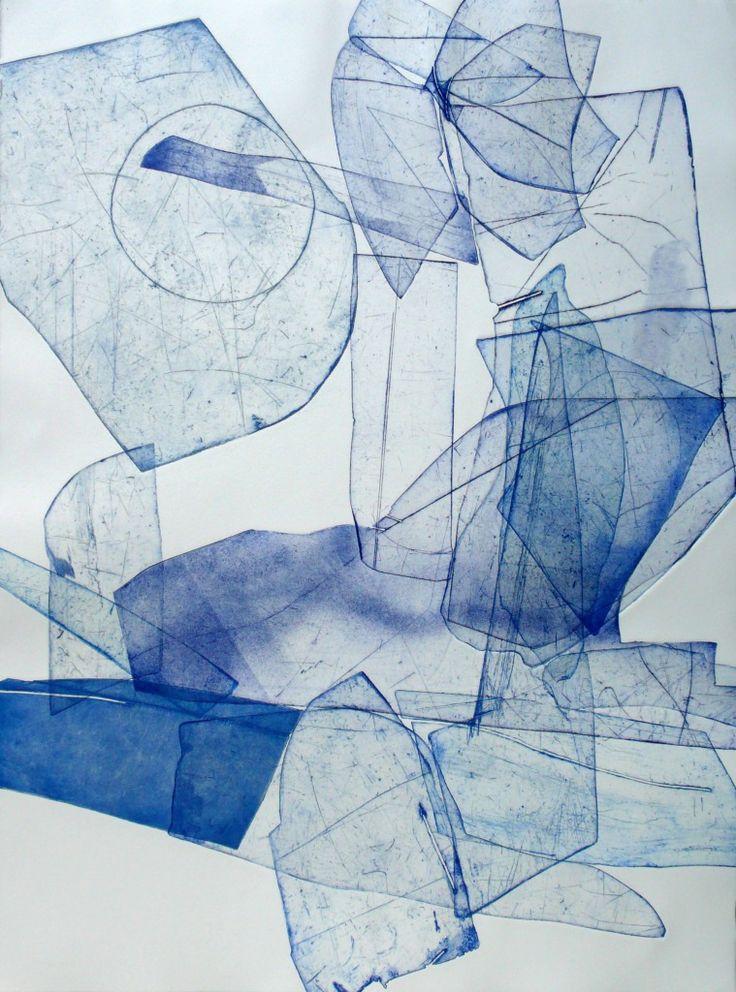 Eben Goff - Batholith Etching, Monoprint #B-10