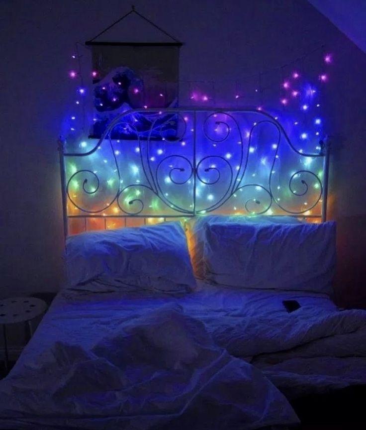 Rainbow Curtain LED Lights in 2020   Led lighting bedroom ...