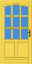 Jankó Kft - Minőségi fa nyílászárók – ajtók, ablakok » Vésett osztós bejárati ajtók