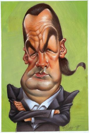 Seagal: Art Caricatures, Cartoon Caricatures, Celebrity Caricatures, Cartoon Art, Steven Segal, Joan Vizcarra, Celebrity Cartoon, Steven Seagal, Cartoon Face