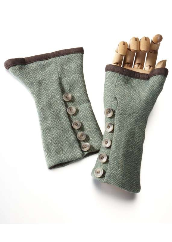 Katherine Hooker tweed fingerless gloves