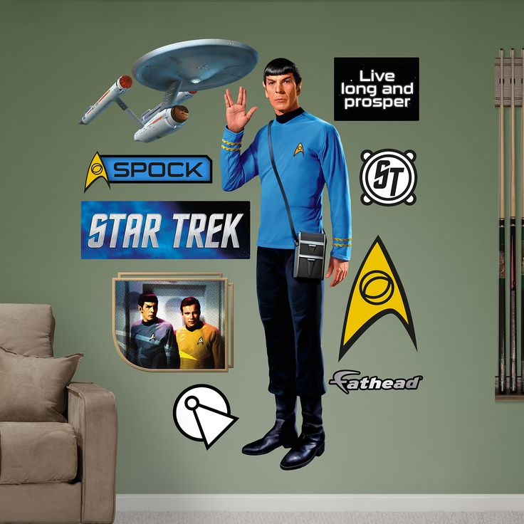 Spock Fat Head Wall Decal Www.speedprostcloud.com  Marketingstcloud@speedpro.com