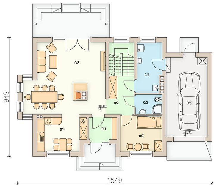 Detached house with attic and garage, intended for 4-5 person family. Due to the clear layout of the premises and...