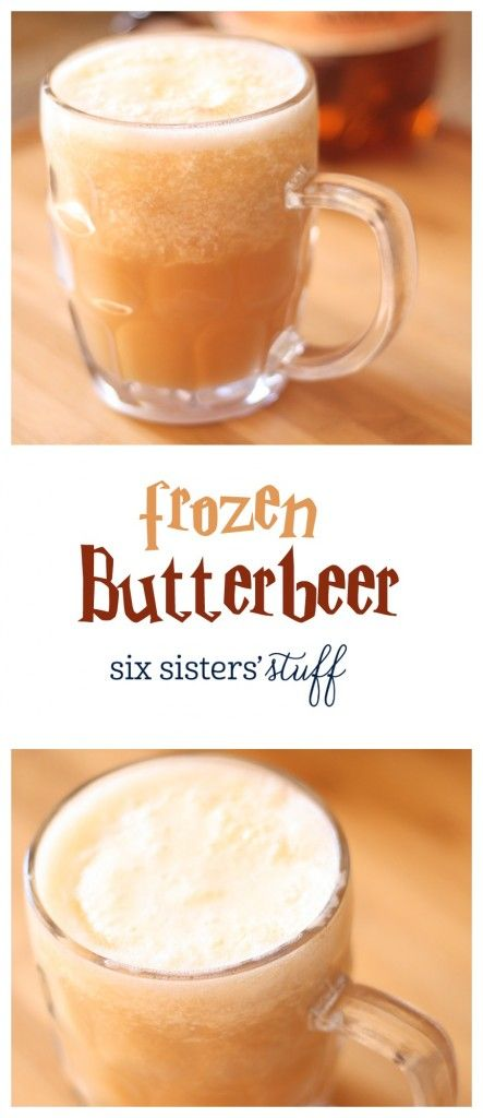 Frozen Butterbeer recipe from @sixsistersstuff | delicious 3 ingredient version of Frozen Butterbeer. Do you feel like a wizard yet? Because I do!