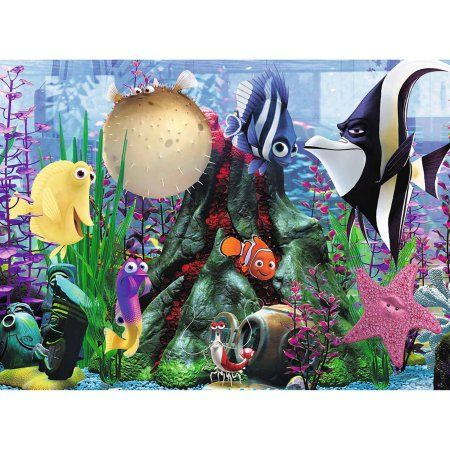 Ravensburger Finding Nemo: Hanging Around XXL Puzzle in a Small Suitcase, 100 Pieces, Multicolor