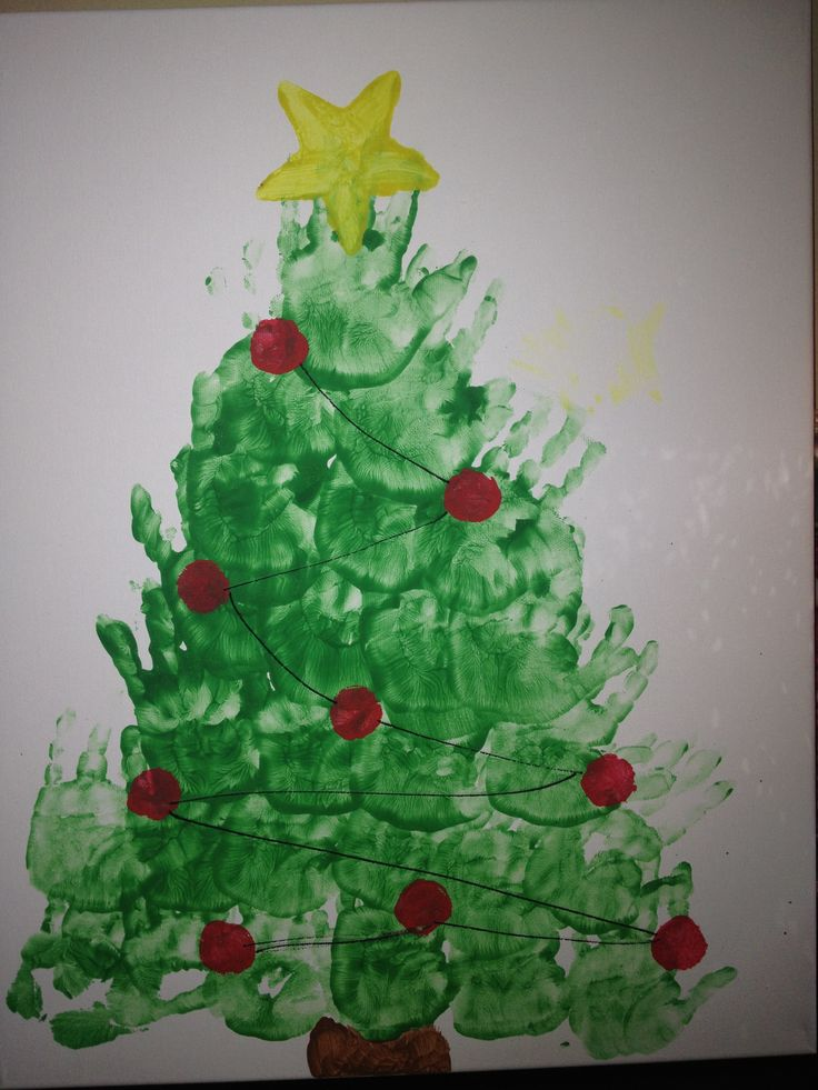 christmas tree handprint - photo #7