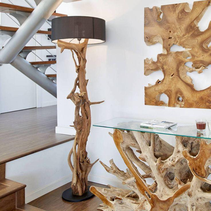 Details Zu Teakholz Stehlampe Bluma Höhe 180 Cm Teak Wurzelholz Lampe  Treibholz Standlampe