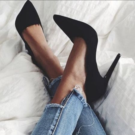 Sensible stilettos are a staple for any wardrobe.