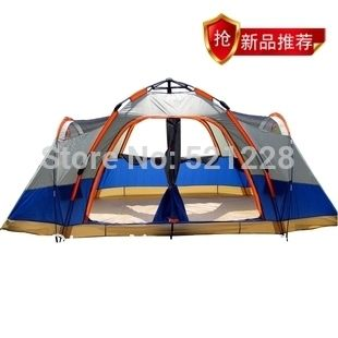 94.25$  Watch now - http://aliuv8.worldwells.pw/go.php?t=1562544963 - Fully-automatic 4 seasons double layer family 6-8 persons fishing beach outdoor camping tent automatic,tent 6 person 2 bedrooms