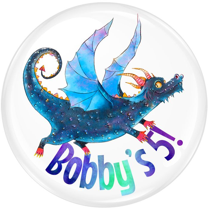 Dragon Personalised Birthday Party Badge #342