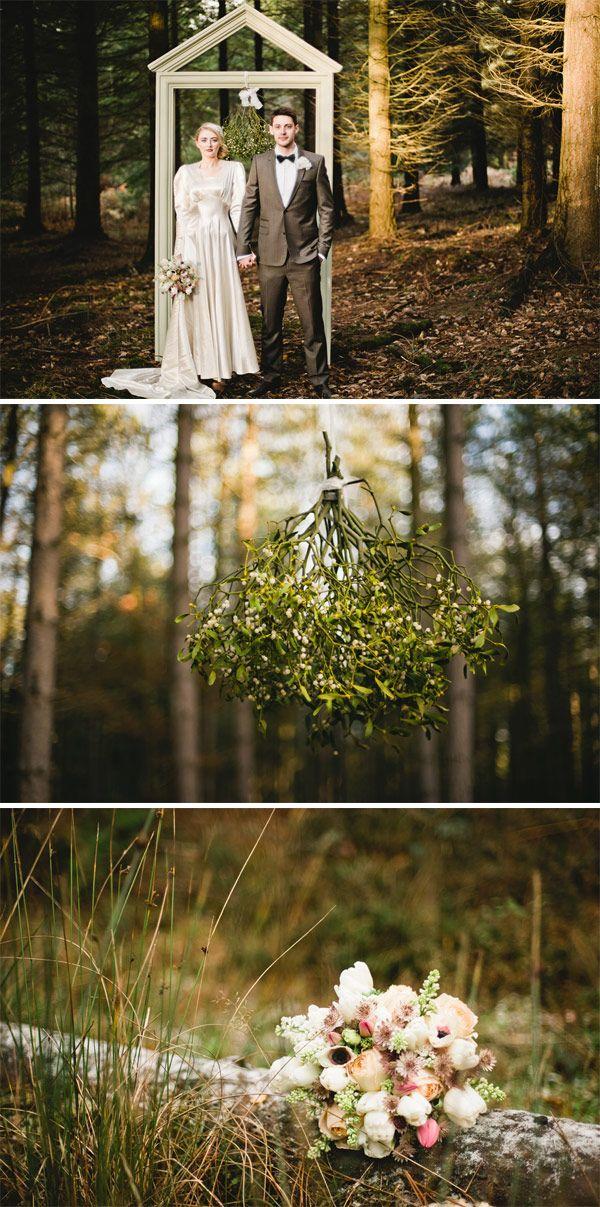 A Vintage Winters Tale mistletoe #rockmywinterwedding