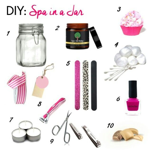How are you celebrating your mom on Mother's Day? Here is a little DIY spa gift that just may make her smile!!  SPA in a JAR:  1) Mason Jar with decorative Ribbon 2) Her favorite KSM Butter Cream 3) Mini Cupcake Bath Bomb 4) Cotton Balls and Q-tips 5) Emory Board/file 6) Nail Polish 7) Tealight Candles 8) Razor 9) Nail Clippers and Scissors 10) Mini Chocolates  Just add a note or card that tells her how much you love her and leave her to relax with her homemade spa!