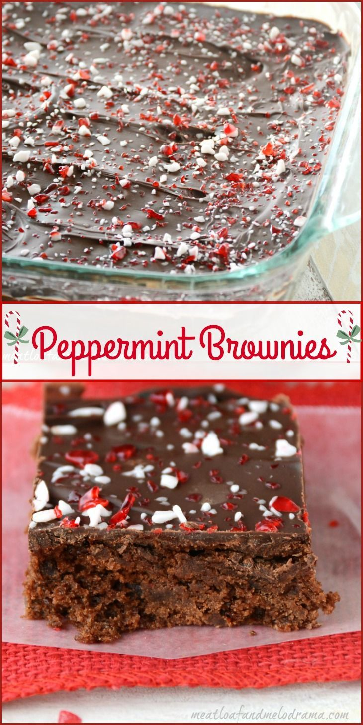 Peppermint Brownies are made in one bowl and are perfect for holiday baking