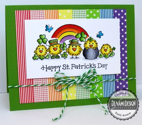 DeNami St. Patrick's Day Chickies Washi Tape card by Emily