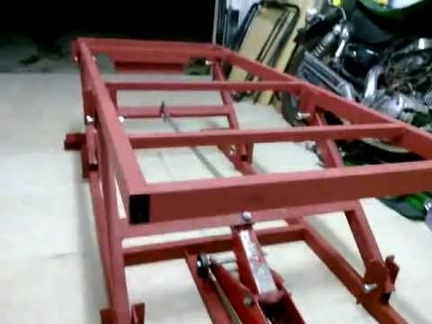 Motorcycle Lift Table Using Car Jack Garage Work Pinterest And